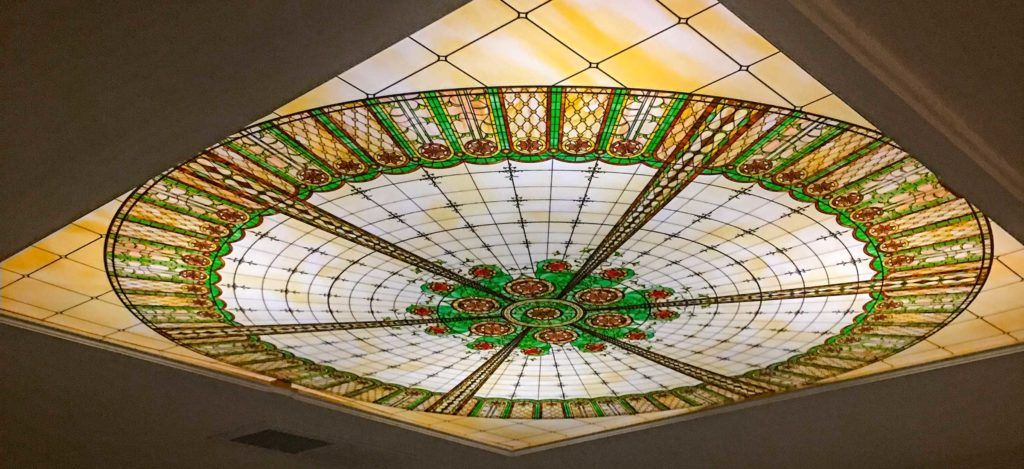 A Virtual Stained Glass Dome Ceiling Fluorescent Gallery Decorative Ceiling Panels Fluorescent Light Covers Dome Ceiling