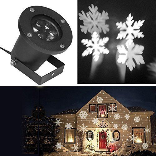 Details about Christmas Snowflake Projector LED Light Party Indoor