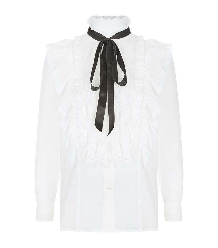 b63f572235a50 MARC JACOBS Ruffled Tie Neck Blouse.  marcjacobs  cloth