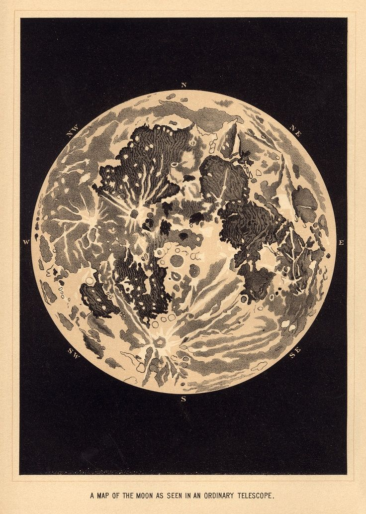 Public Domain Vintage Illustrations Moon Vintage Sun And