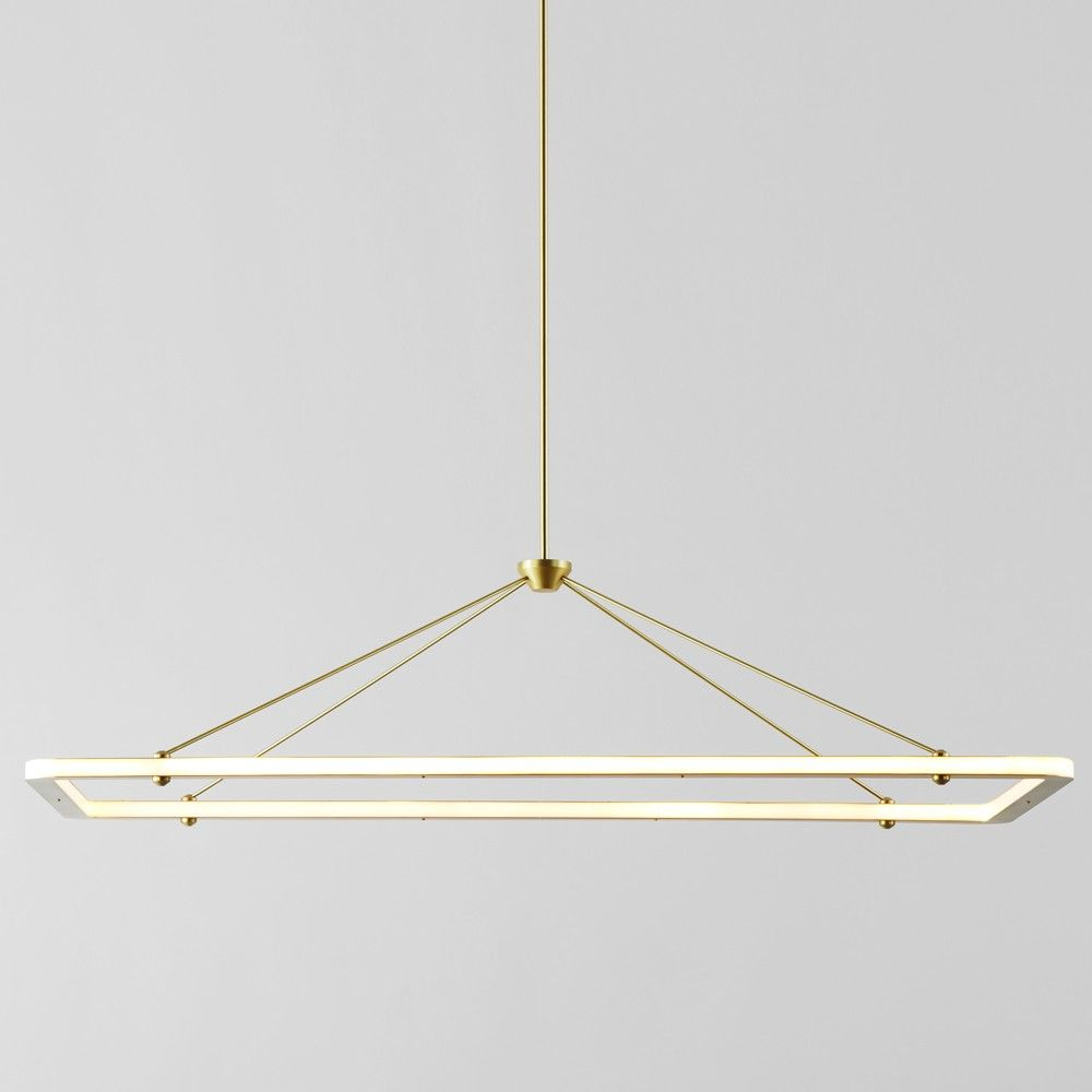 The Halo Rectangle Pendant Light Originated In Paul Loebach S Search For A Graceful Lication Of Energy
