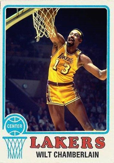 Wilt Chamberlain Los Angeles Lakers Nba Players Basketball Cards Wilt Chamberlain