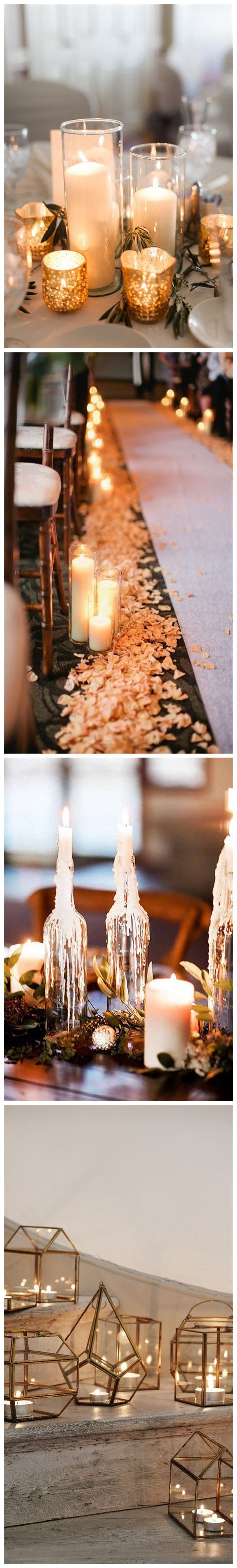 Wedding decorations for reception january 2019  Stuning Wedding Candlelight Decoration Ideas You Will Love
