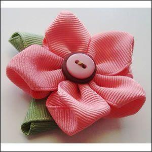 Boutique 5 Petal Flower Clip Instructions ༺✿ƬⱤღ http://www.pinterest.com/teretegui/✿༻