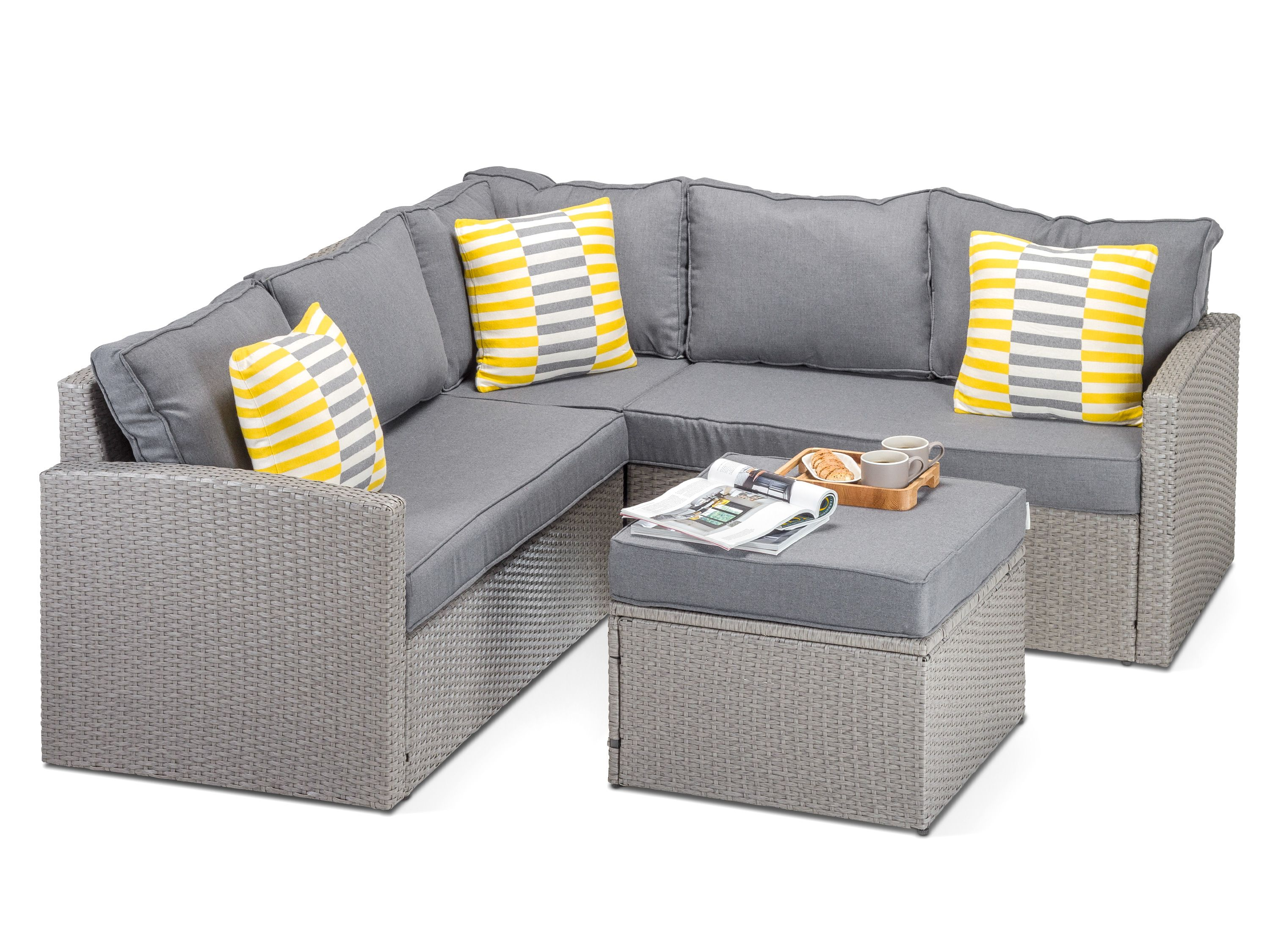 Rattan Sofa Set In Mauritius Rattan Garden Furniture Corner Sofa Grey Review Home Co