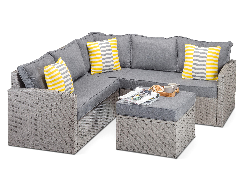 Sensational Calabria Grey Rattan Garden Corner Sofa Our Calabria Alphanode Cool Chair Designs And Ideas Alphanodeonline