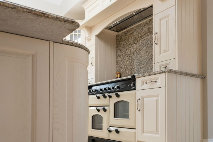 Rangemaster with overmantle in a Classic Painted Kitchen ...
