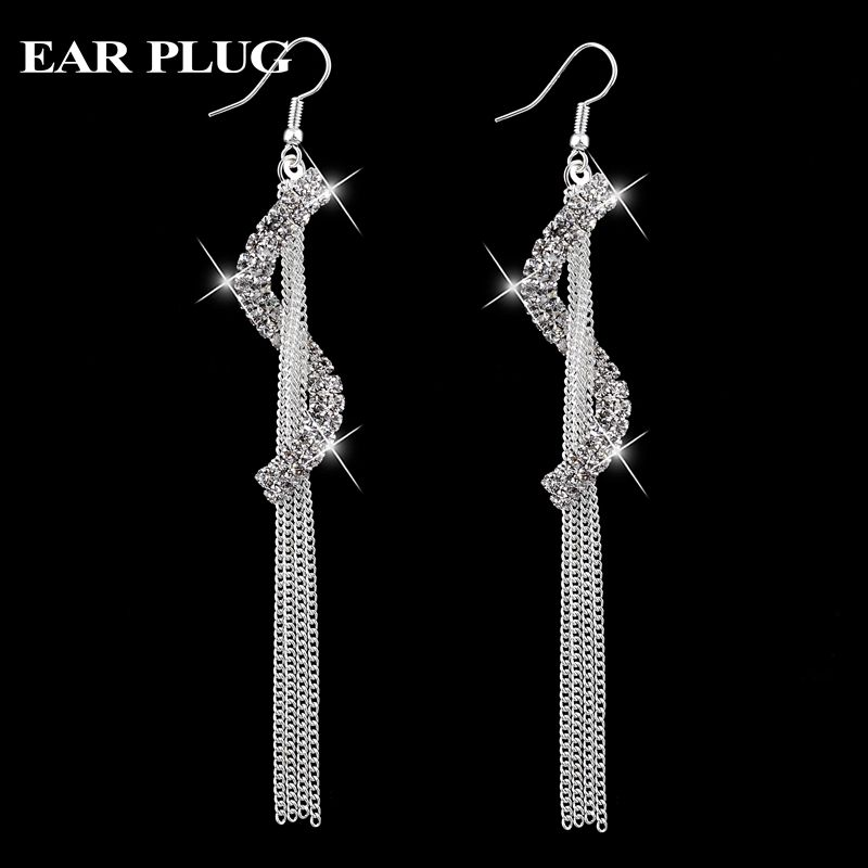 Cheap Earrings Cool Buy Quality Green Directly From China Zirconia Suppliers Long Silver Tassel Chain Fashion Jewelry Vintage