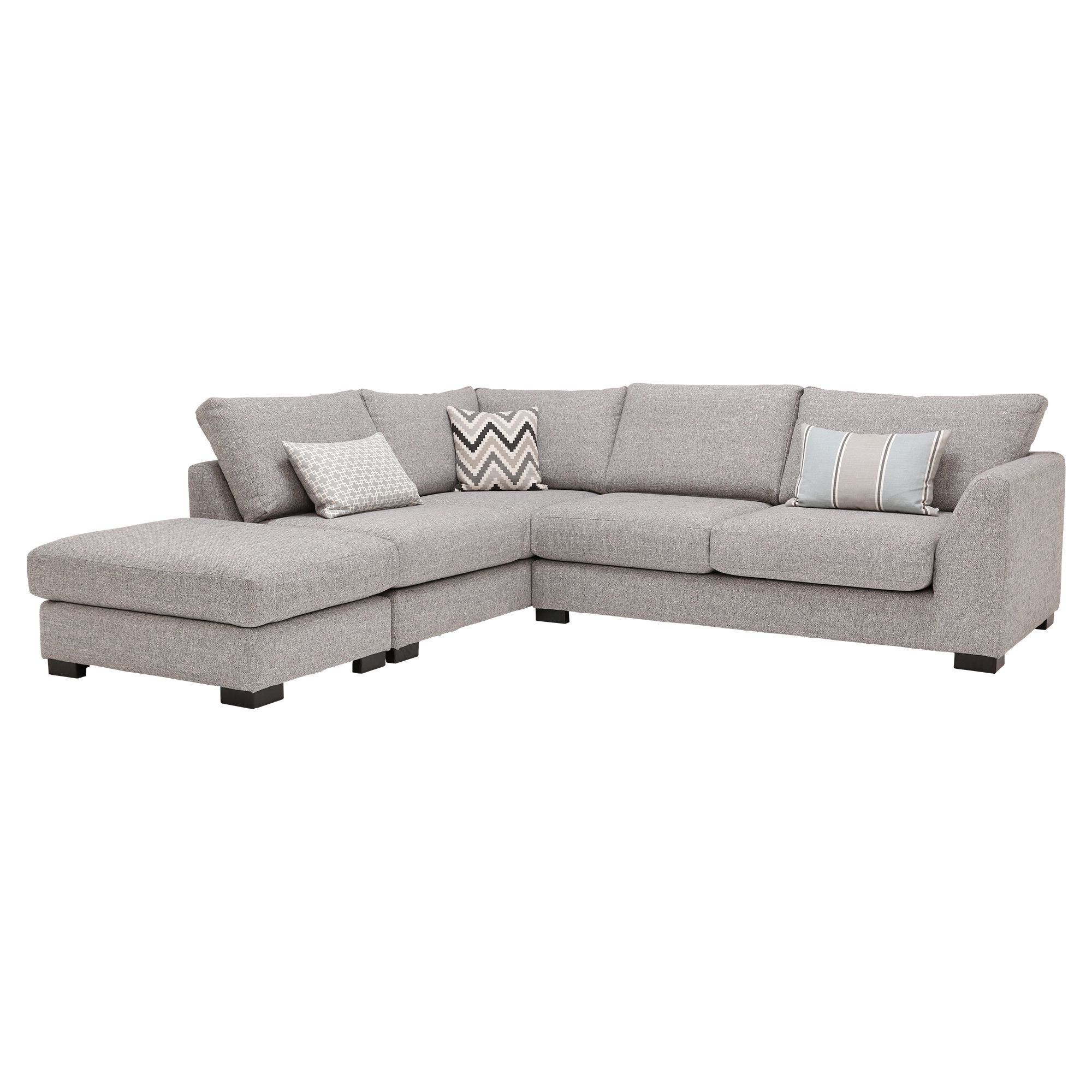 Stamford Lhf Corner Sofa With Stool Grey Barker Stonehouse