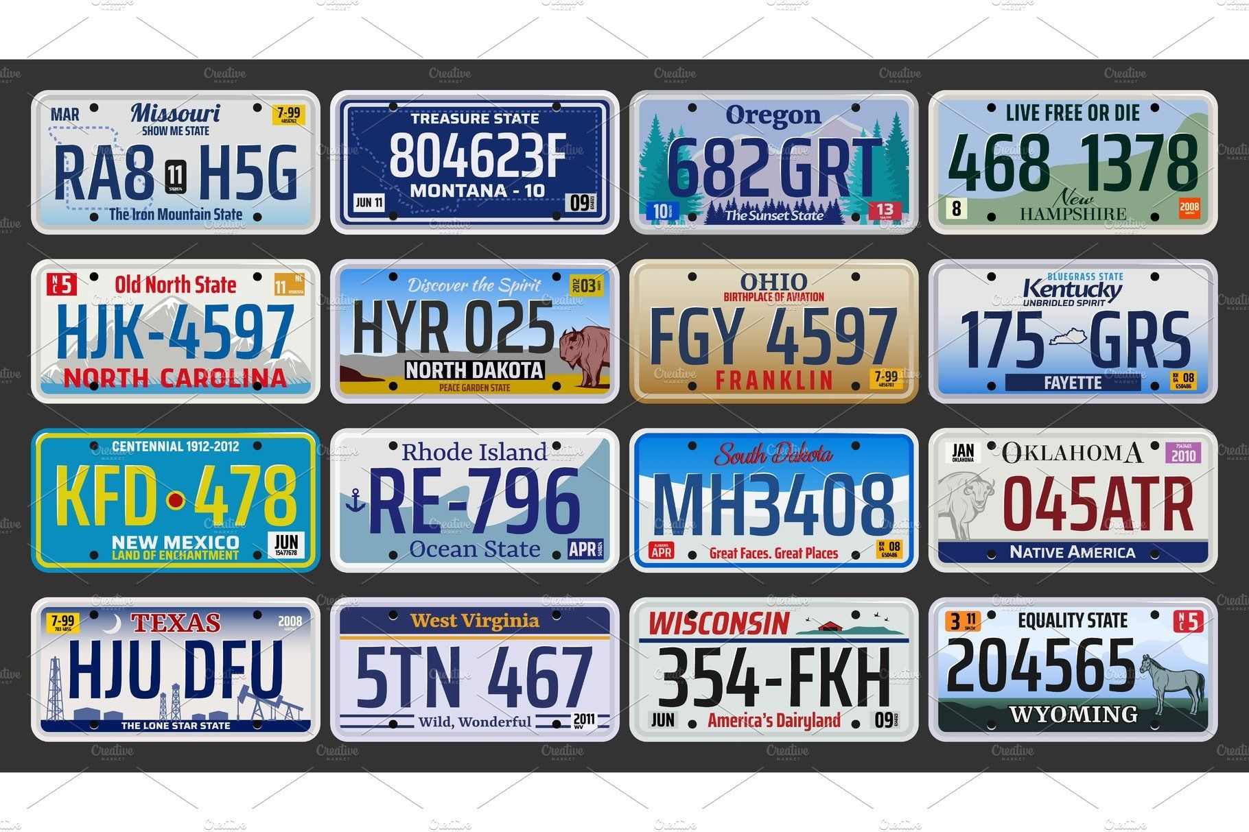 Car Number Plates In Usa In 2020 Car Number Plates Car License