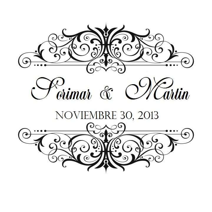 Wedding Logo On The Invitation Or The Menu I Like The Design