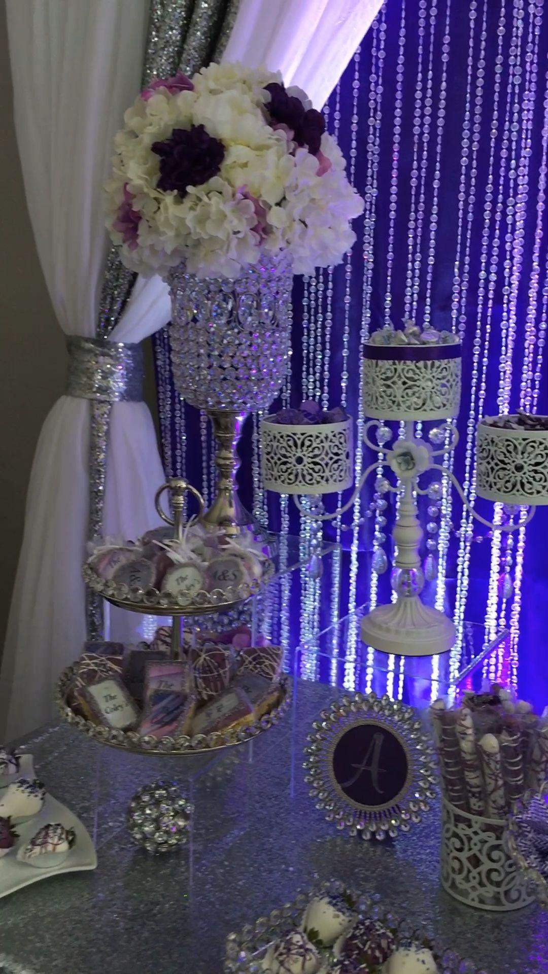 Purple Wedding Sweets Table -   12 sweet 16 desserts Table ideas