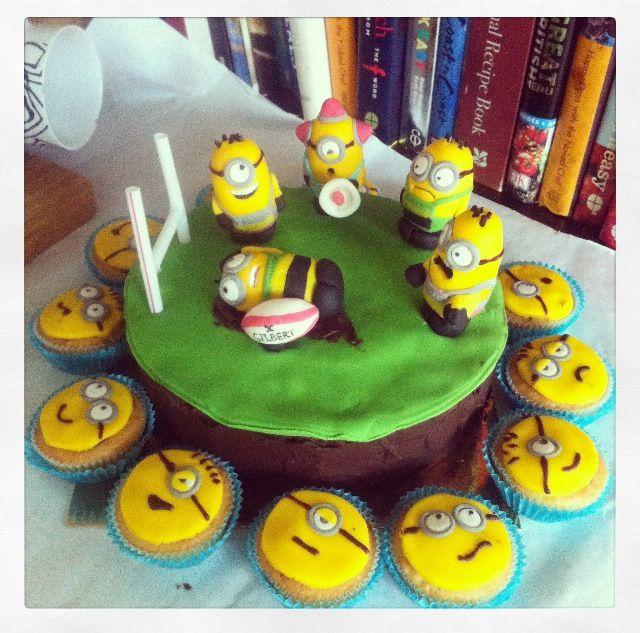 made this minion cake for my boyfriends birthday the minions are on custom made birthday cakes northampton