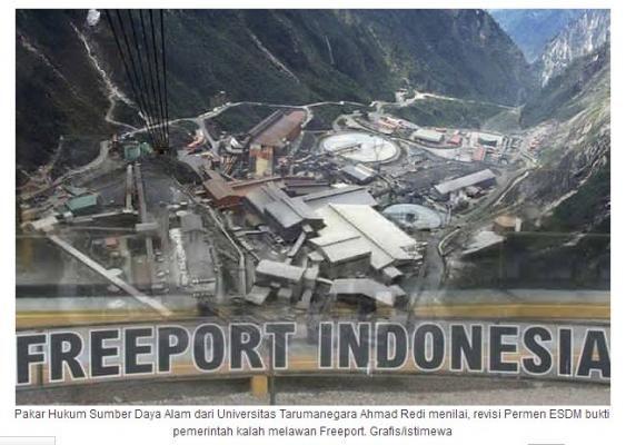 Izinkan Mengekspor, Membuktikan Rezim Jokowi Keok Lawan Freeport