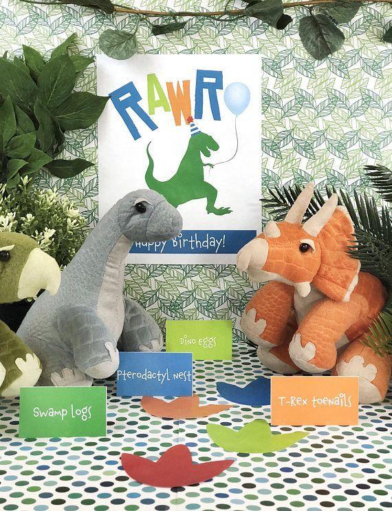 Partysaurus Rex Dinosaur Birthday Party Printable Package Dinosaur