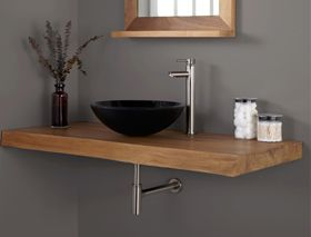 plan de travail en teck pour salles de bain 7 salle de bain pinterest teck salle de bains. Black Bedroom Furniture Sets. Home Design Ideas