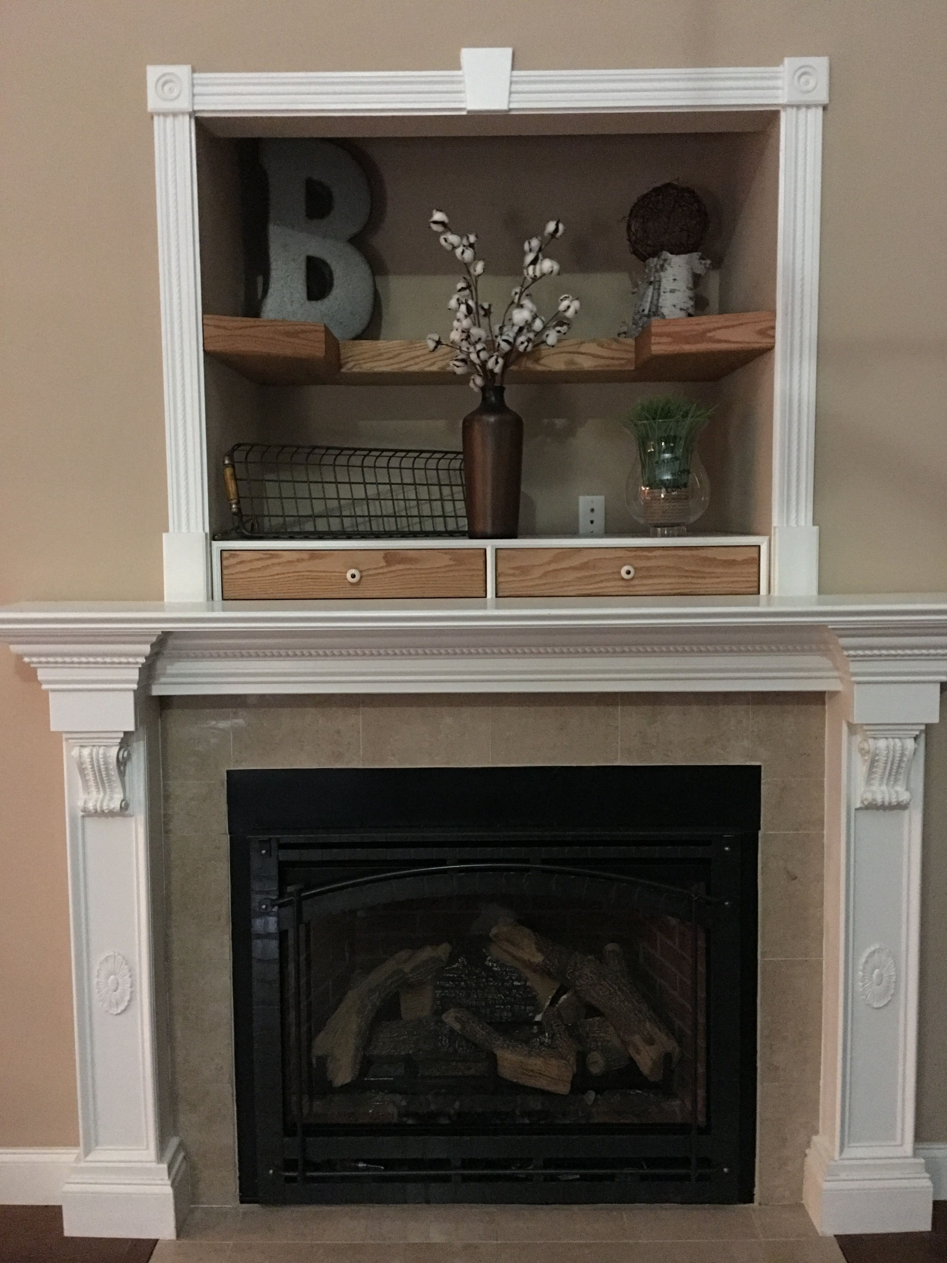 fireplace nook our new house in 2019 living room decor, aboveDecorations Above New Tv In Nook #16