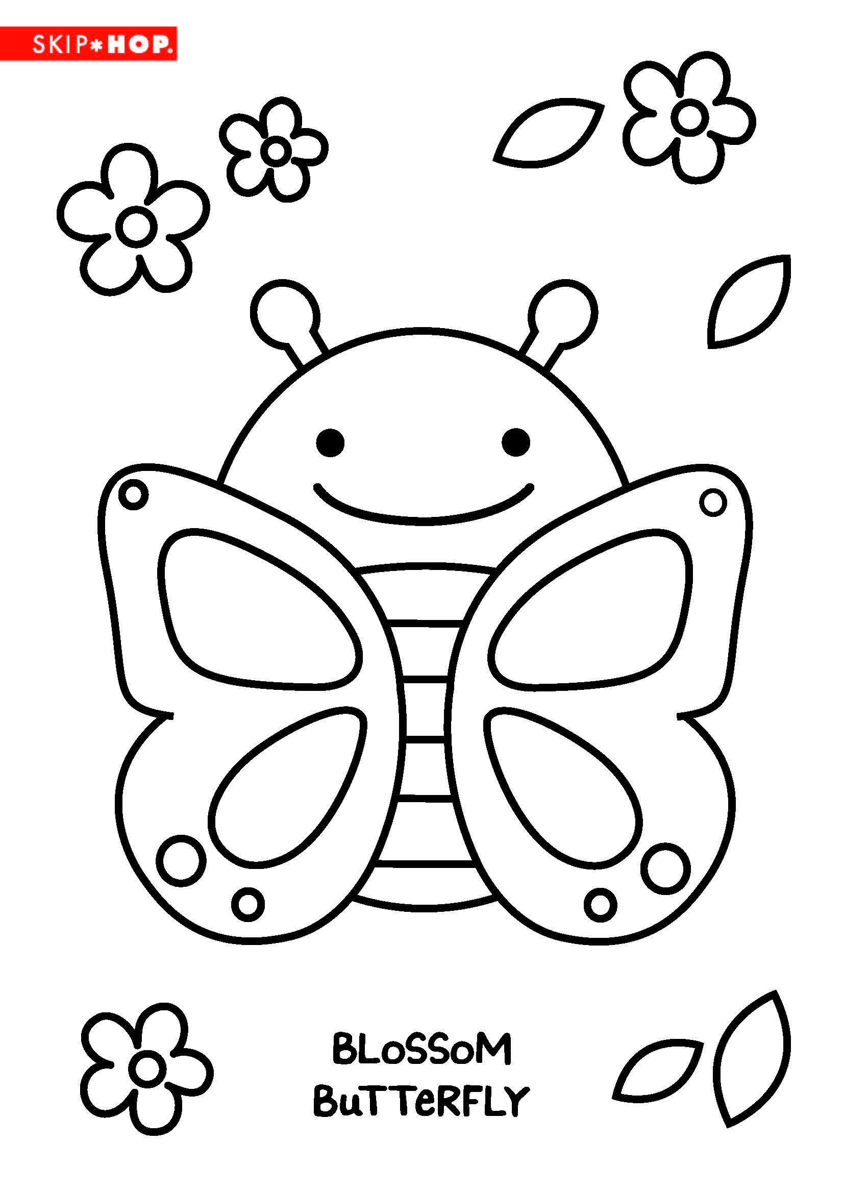 Blossom Butterfly Coloring Sheet Kids Coloring Books Activity Sheets For Kids Coloring Sheets For Kids