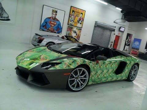 Merveilleux Metro Wrapz Printed And Installed This LBJ Inspired Shoe Design On An Lamborghini  Aventador.