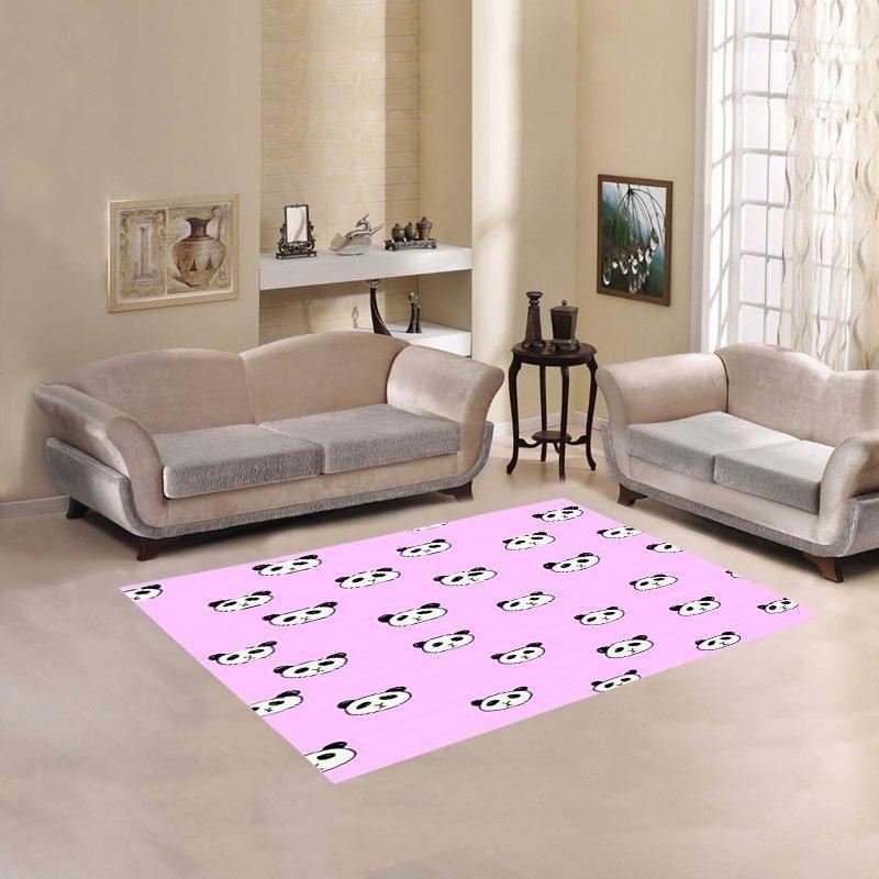 Panda Pink Living Room Carpet Rug | Products | Pinterest | Living ...