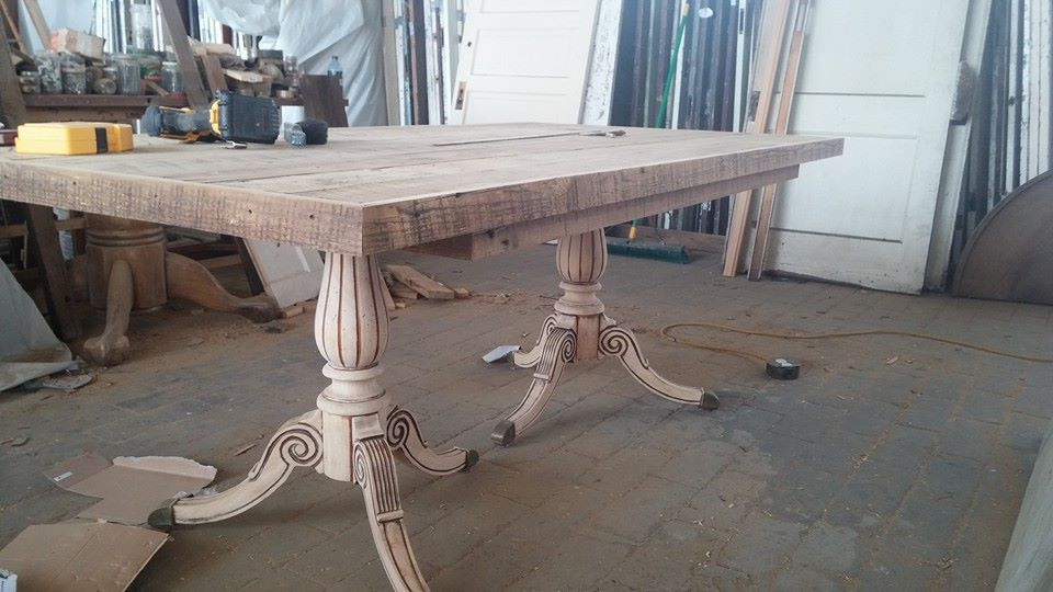 Beau Custom Table Created At The Vintage Station In Bessemer, AL, Using  Reclaimed Wood (