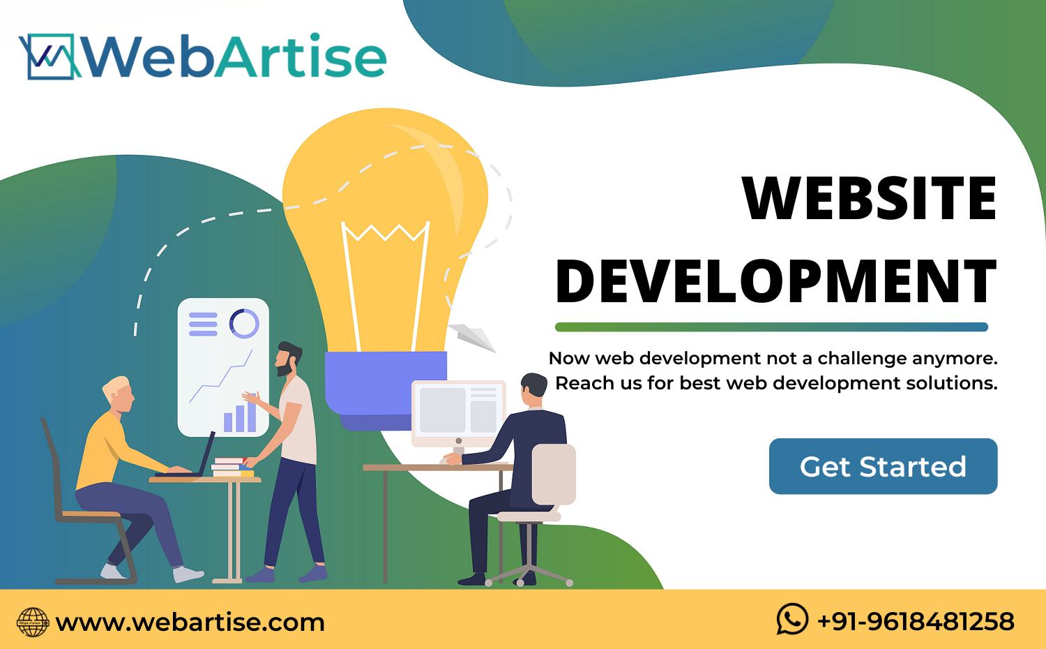 Now Web Development Not A Challenge Anymore Reach Us For Best Web Development Solutions Call Us At In 2020 Creative Web Design Web Development Company Web Development