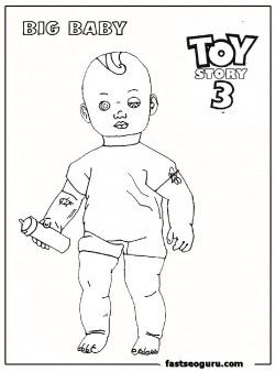 Big Baby Toy Story 3 Printable Coloring Pages Just For You Sandy