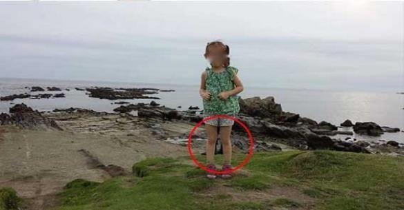 ΣΟΚαρίστηκε!! Σταμάτησε να βγάζει φωτογραφία την κόρη του όταν είδε αυτό στα πόδια της!