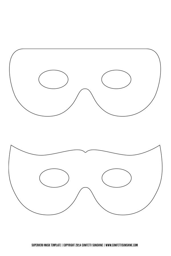 Super Hero Mask : Free Template - | Things To Make | Pinterest