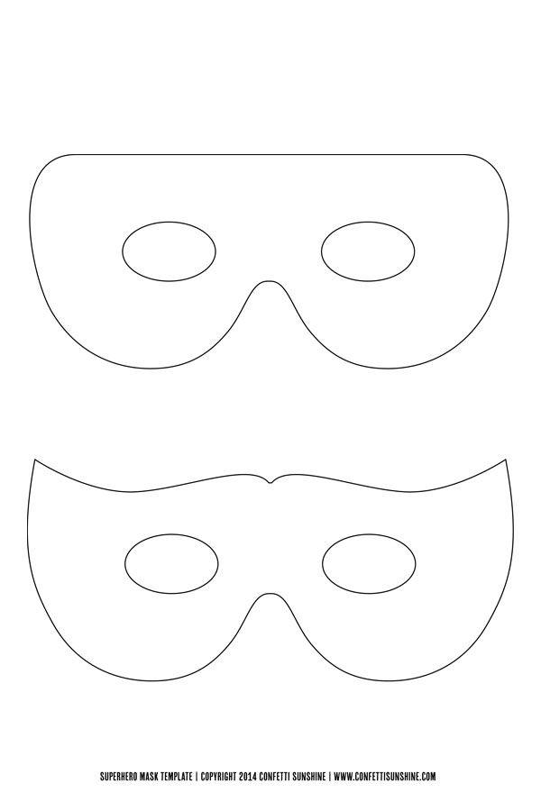 Super Hero Mask Free Template Superhero Masks Hero Crafts