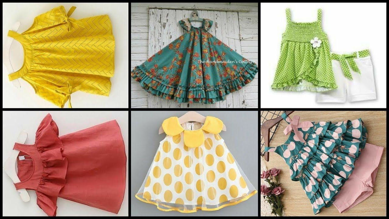 Latest Beautiful Baby Girls Frocks Designs 2019 Homemade Frocks Design Baby Girl Frock Design Girls Frock Design Baby Girl Frocks