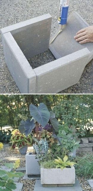 Stone pavers to stone planters 17 Awesome DIY Concrete Garden Projects  Planters  Ideas of Planters