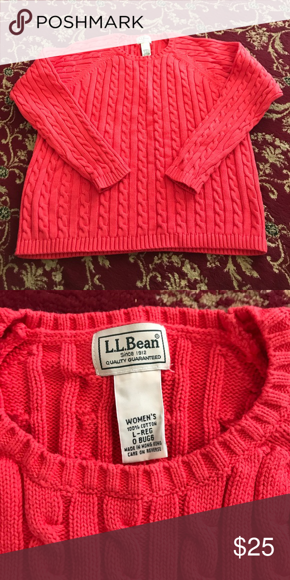 Llbean Sweater Llbean 100 Percent Cotton Sweater Size Large Crew