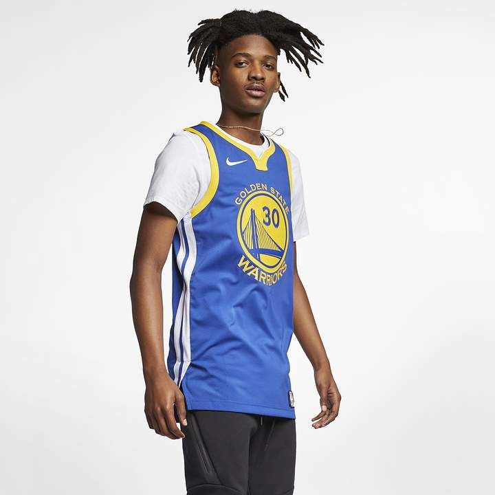 1028e56a7ee Nike Kevin Durant Icon Edition Authentic (Golden State Warriors) Mens NBA  Connected Jersey