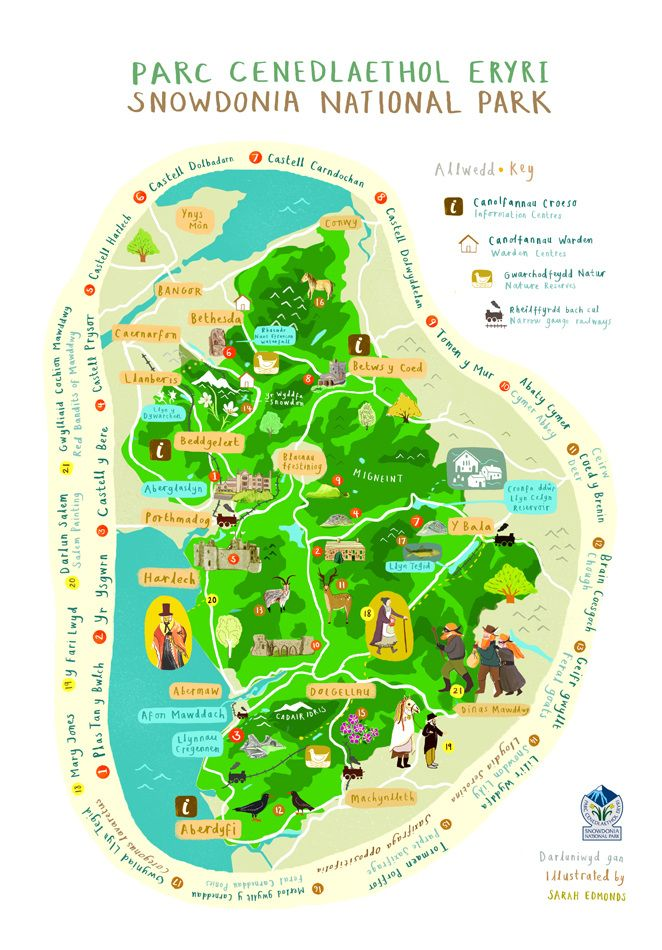 Snowdonia national park map wales