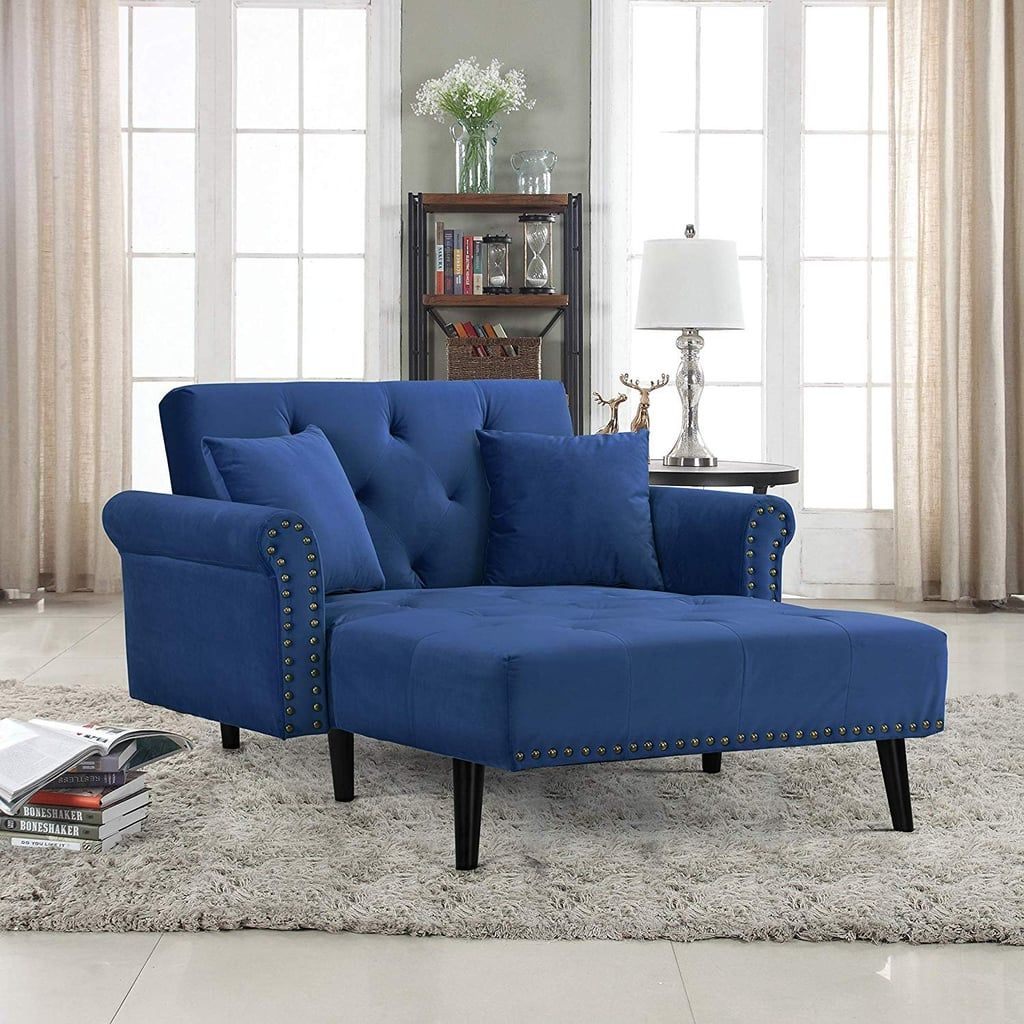 Divano Roma Velvet Recliner Chaise Lounge Chaise lounge