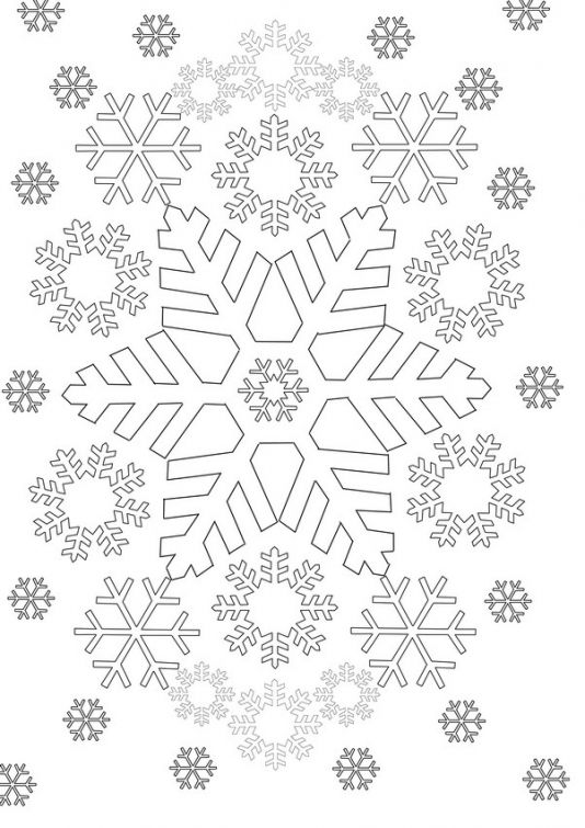 Printable Snowflake coloring picture for adults   Abstract Coloring ...