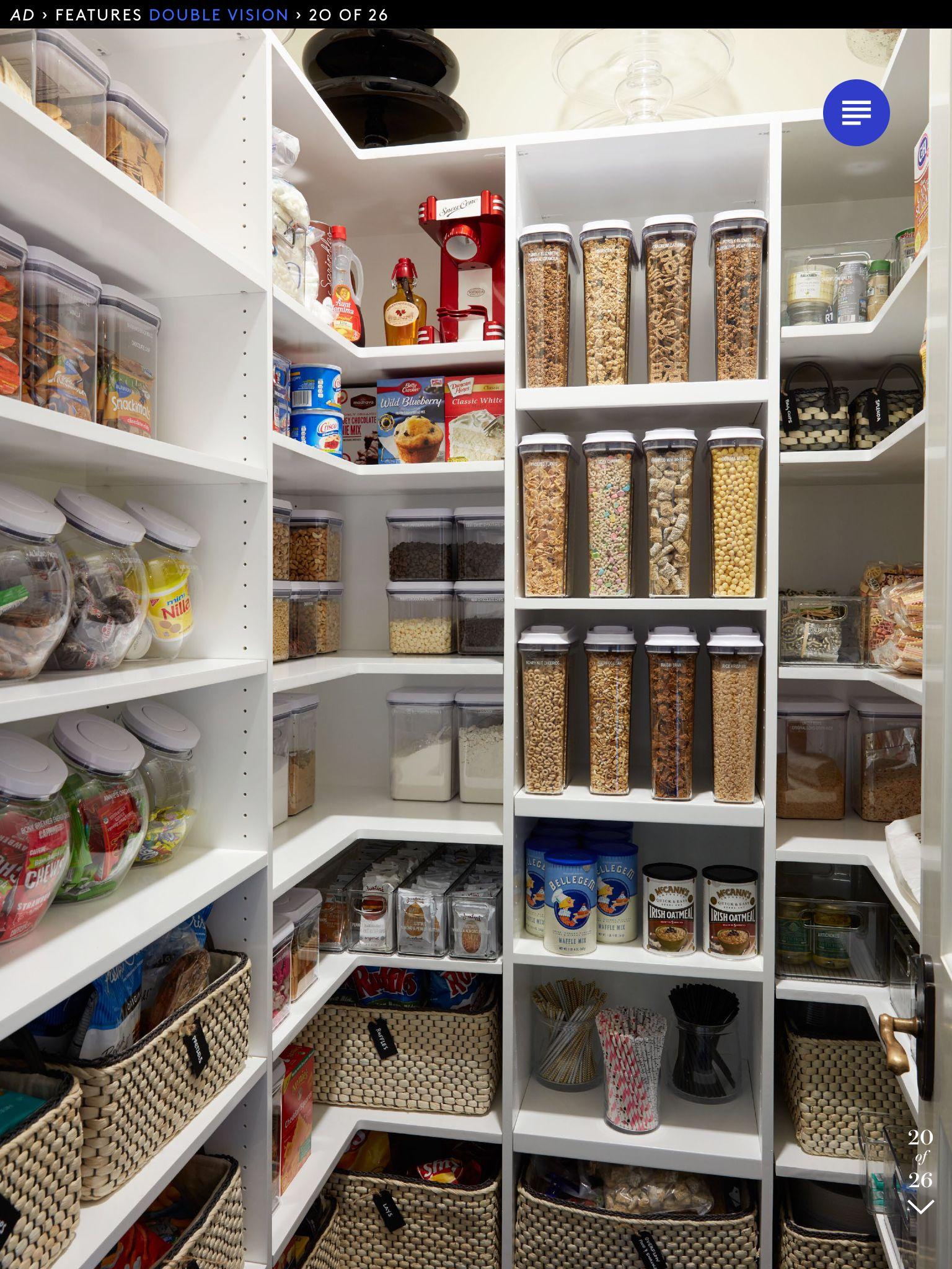 Kitchen Pantry Organization Pinterest