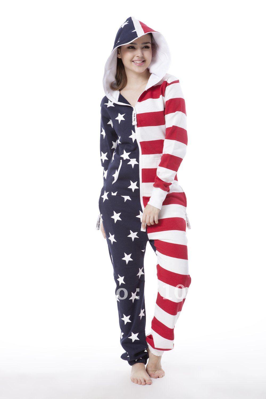da9d6f0bf101 American flag one piece jumpsuit adult onesies Unisex onesies onezie onesie  daffedress all in one piece elegant jumpsuit 2013