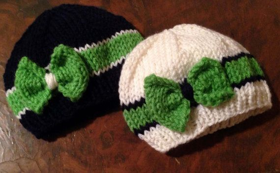 cae3c31b0b0 FREE Shipping Seattle SEAHAWKS Hand Knitted Baby by CutseyOnEtsy ...