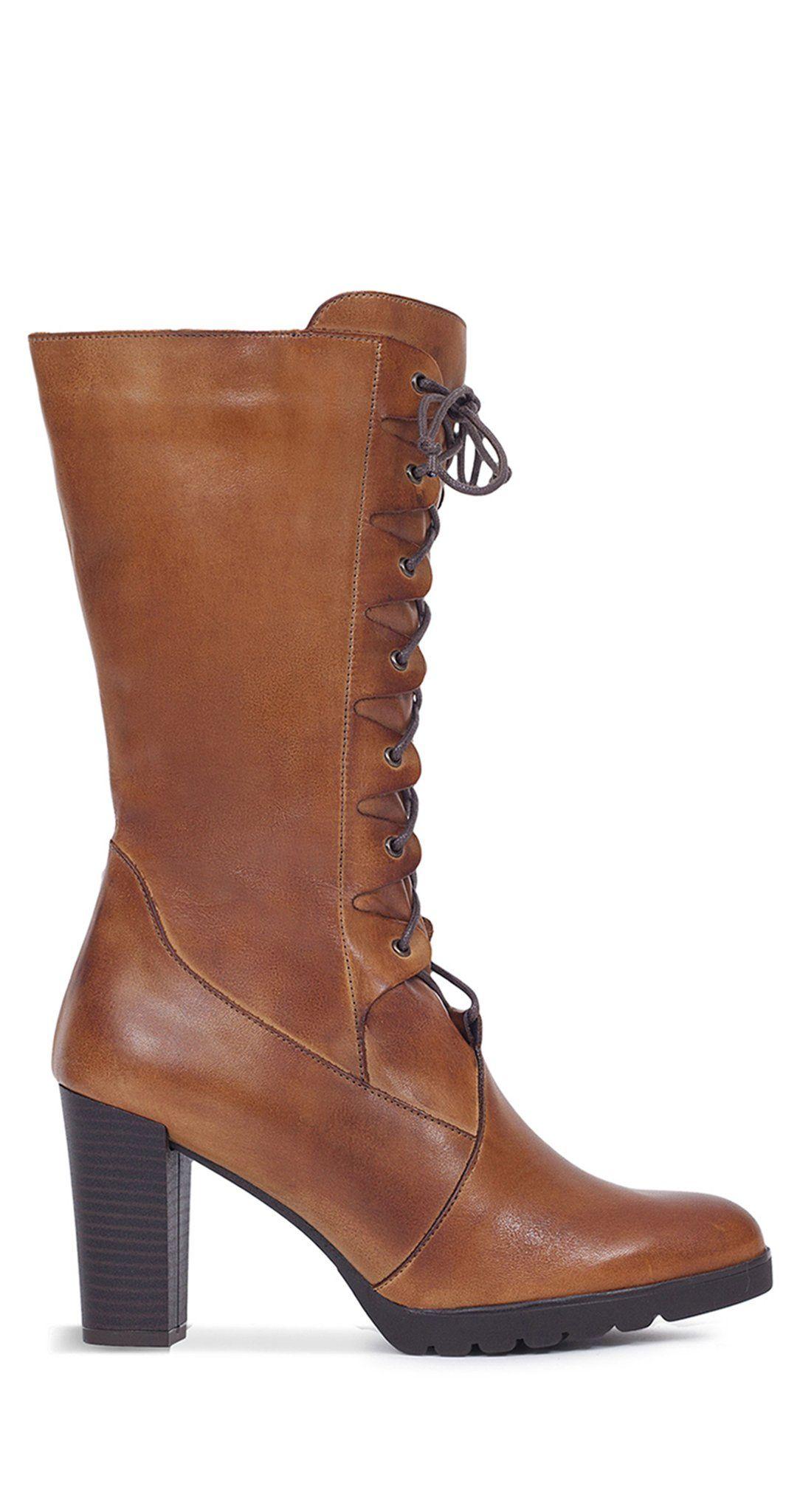 e0c275bc Bota alta de mujer CUERO con cordones – Zapatos miMaO Online – miMaO  ShopOnline