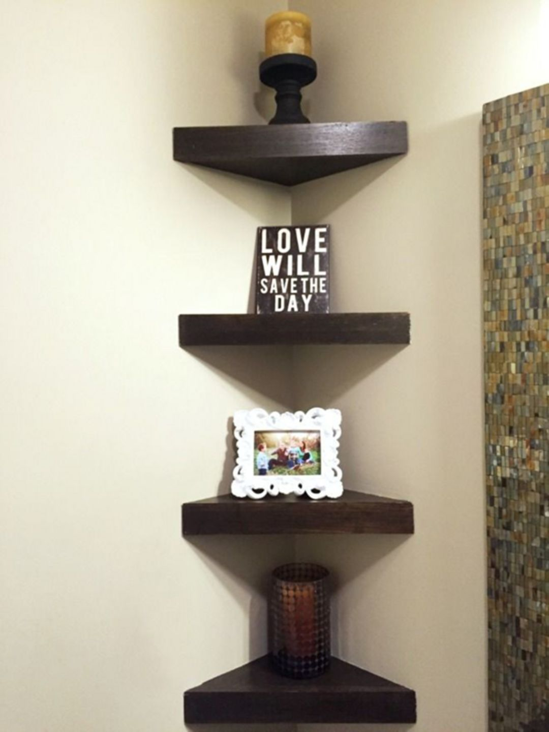 25 Attractive Small Corner Shelf Decorations For Your Living Room