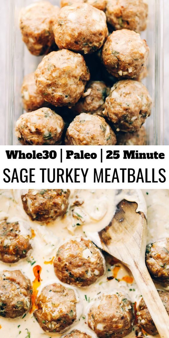 Dinner Recipe | Turkey Sausage Meatballs In Sage Cream Sauce images