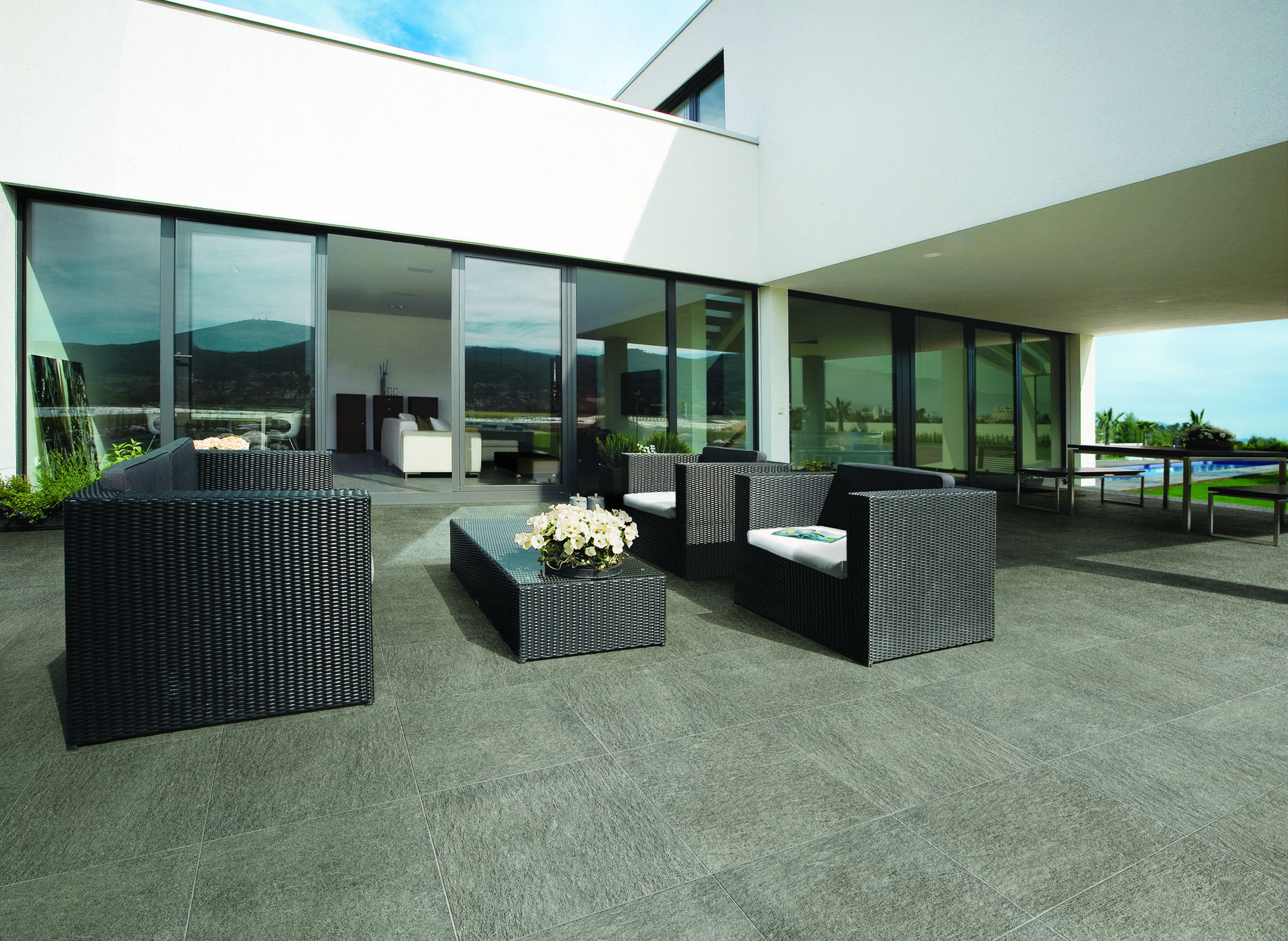 Minoli Extend Outdoor Patio Floor Tiles Extend Grey