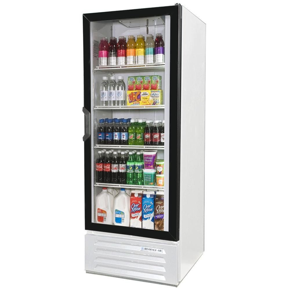 Beverage Air Lv12hc 1 W Lumavue 24 White Refrigerated Glass Door Merchandiser With Led Lighting Design Art Deco Hotel Glass Door Refrigerator Beverage