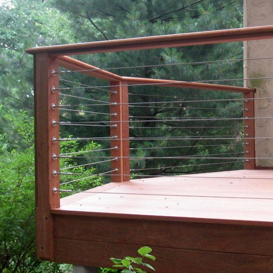Wire Handrails Decks | Stainless Cable Railing Deck Railing Raileasy Turnbuckle Wire