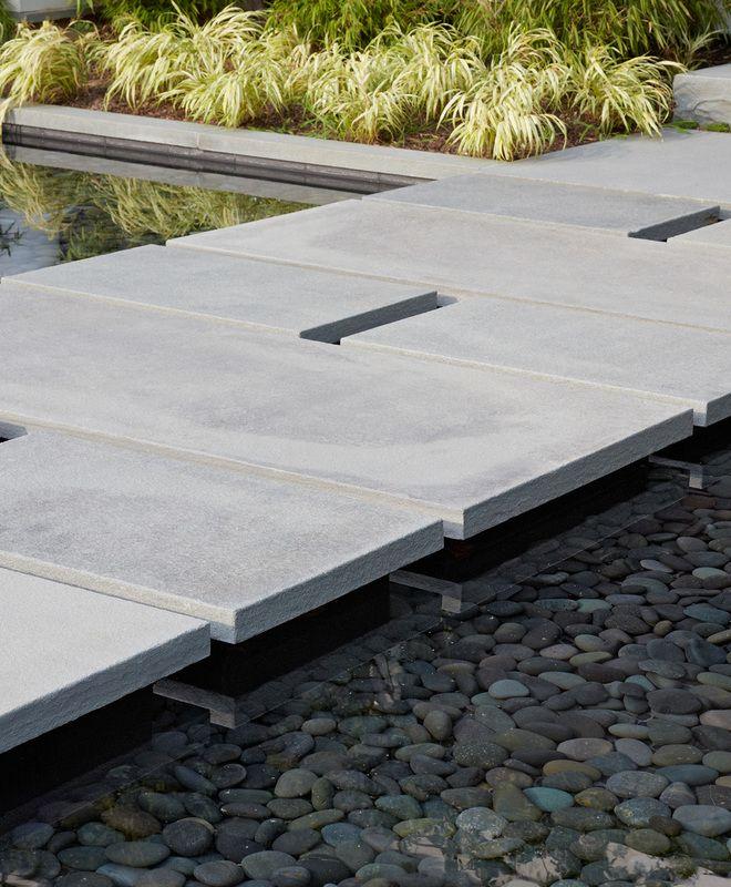 65 Philosophic Zen Garden Designs: Zen Cottage - Entry Walk Reflecting Pool