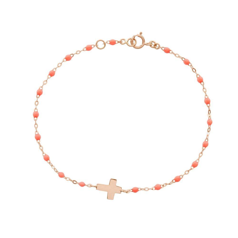Bracelet Perles Résine Croix , GIGI CLOZEAU