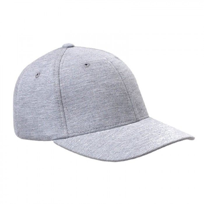 3745a664573 Flexfit Heather Grey Double Jersey Baseball Hat Cap (L XL)
