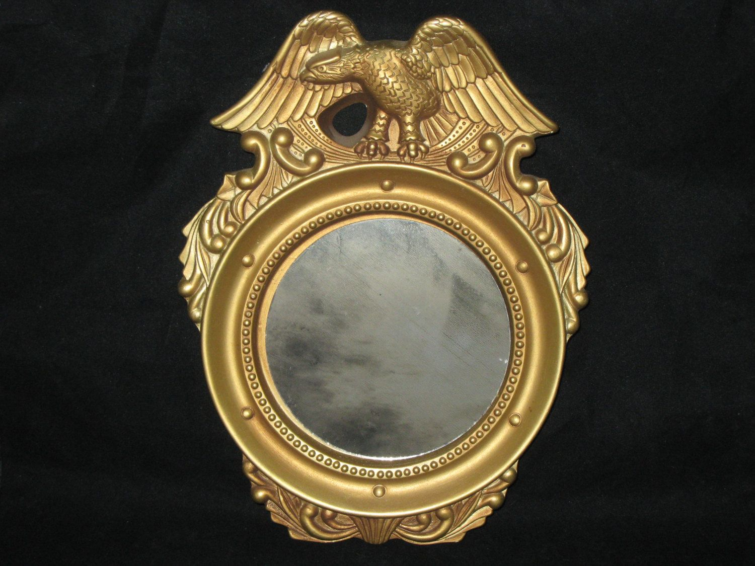Gold Eagle Ceramic Mirror/Cermic Mold Mirror/Vintage Gold Eagle ...